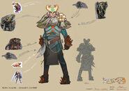 Boss Slayer reward outfit concept art