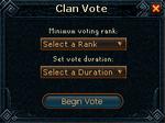 Clan vote system