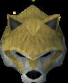 Werewolf mask (gold, female) detail