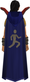 Retro hooded agility cape equipped