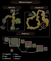 Witchaven Dungeon map