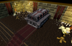 Count Draynor's coffin
