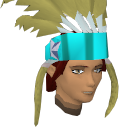 Feather headdress (charged) (yellow) chathead