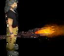 Fire battlestaff