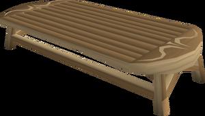 Carved oak table built