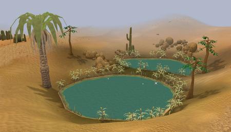 Desert oasis old