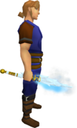 Shatterstorm wand equipped