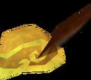 Golden mining helmet