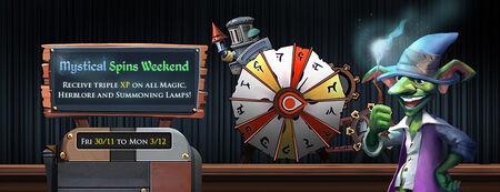 Mystical Spins Weekend banner