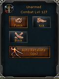Combat styles interface
