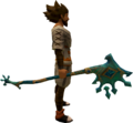 Crystal Peacock Battleaxe equipped.png