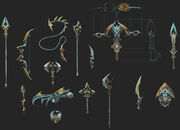 Exquisite weapons concept art