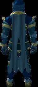 Lunar cape (blue) equipped