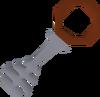 Silver key red detail