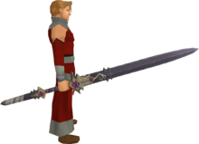 Dragon Rider lance equipped