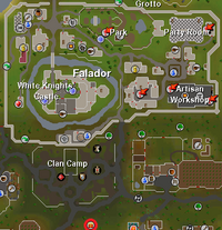 Easter portal location relative to Falador