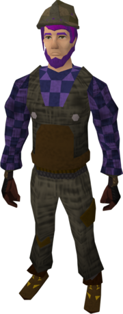 Builder's costume equipped