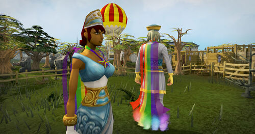 Rainbow cape and necklace news image