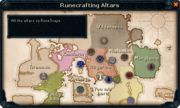 Rune Altar Map