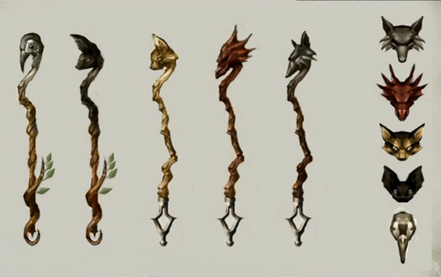 File:Animal staves concept art.png