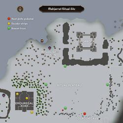 Mahjarrat Ritual Site map