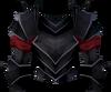Black platebody (bugged) detail