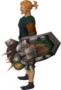 Orkish shield equipped