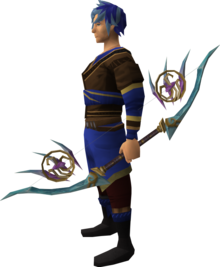 Attuned crystal bow equipped