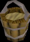 Bucket of sand detail