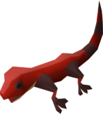 Gecko (red) pet