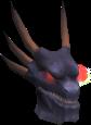 Attuned King Black Dragon head chathead