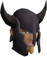Black med helm chathead