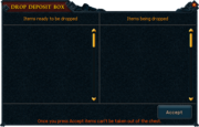 Party chest drop deposit box
