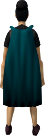 Fremennik cloak (teal) equipped