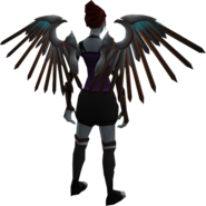 Silver bladed wings equipped