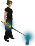 Jousting lance (rapier) equipped