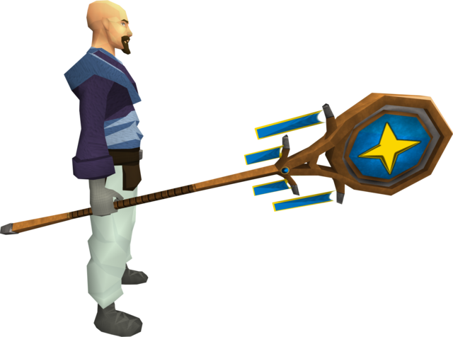File:Banner of Saradomin (tier 2) equipped.png
