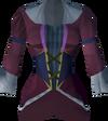 Colonist's dress top (purple) detail