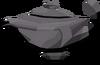 Large dark lamp detail