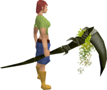 Noxious scythe (barrows) equipped