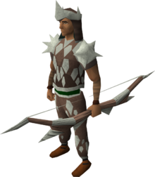 Sacred clay equipment set (ranged) equipped