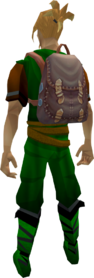 Skilling backpack equipped