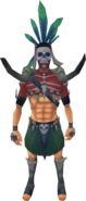 Spirit hunter outfit equipped (male)