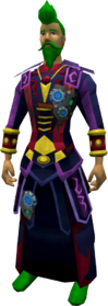 Augmented Seasinger's robes equipped