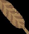 Bronze feather detail