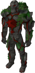 Ruby golem outfit equipped