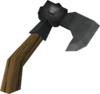 Iron throwing axe detail