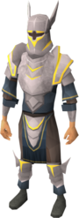Initiate armour set (lg) equipped