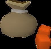 Dice bag detail