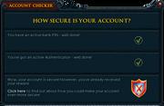Account Checker interface
